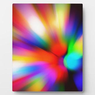 Blurred multi color lights plaque