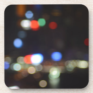 Blurred Night Lights of Hong Kong Beverage Coasters