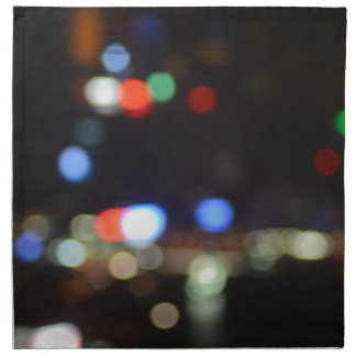 Blurred Night Lights of Hong Kong Napkin