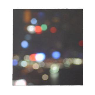 Blurred Night Lights of Hong Kong Notepad