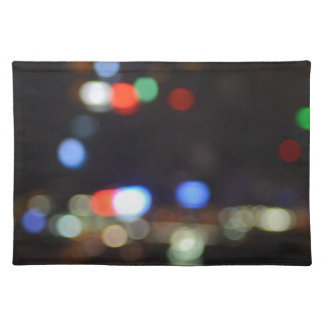 Blurred Night Lights of Hong Kong Placemat