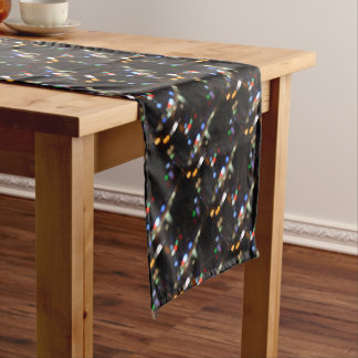 Blurred Night Lights of Hong Kong Short Table Runner