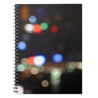 Blurred Night Lights of Hong Kong Spiral Notebook