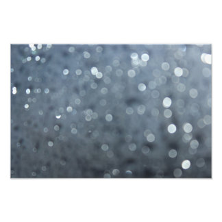 Blurred Rain Drops Photo Print