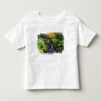 Blurred Rock Waterfall, Maple Green & Orange Trees Toddler T-Shirt