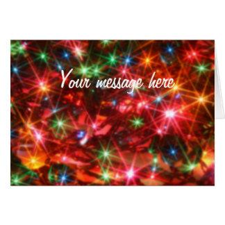 Blurred sparkling lights background greeting card