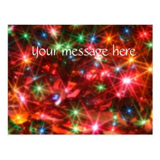 Blurred sparkling lights background postcard
