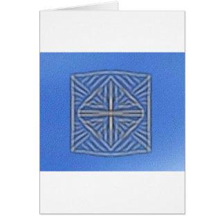 blurred symbol blue greeting card