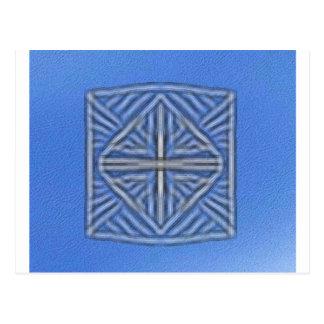 blurred symbol blue postcard