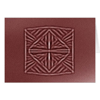 blurred symbol red card