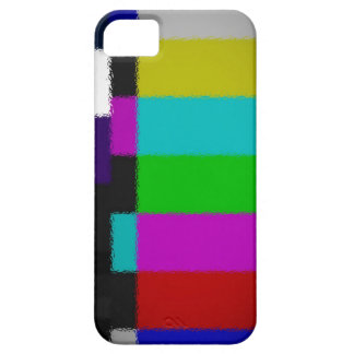 Blurred TV Test Screen iPhone Case