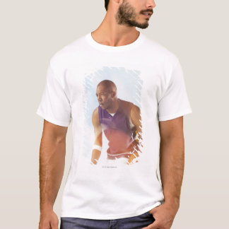 Blurred view of basketball player dribbling 2 T-Shirt