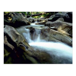 Blurred water over rocks, Denny Creek, Washington Post Card