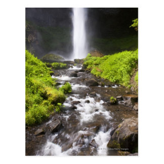 Blurred Waterfall and River Postcard