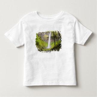 Blurred Waterfall around lush Greenery in Oregon Toddler T-Shirt