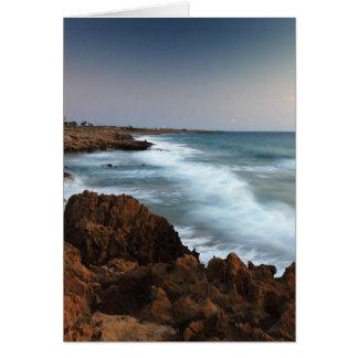 Blurred Waves Greeting Card