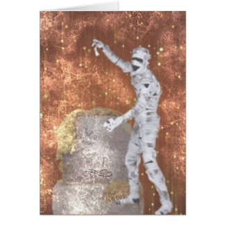 Blurred Zombie Greeting Card