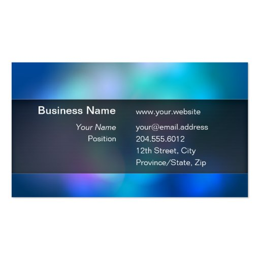 Blurry Colors Black Transparent Box Business Card
