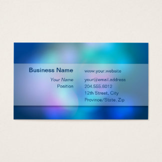 Blurry Colors White Transparent Box Business Card