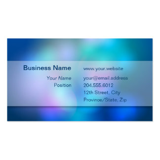 Blurry Colours White Transparent Box Business Card