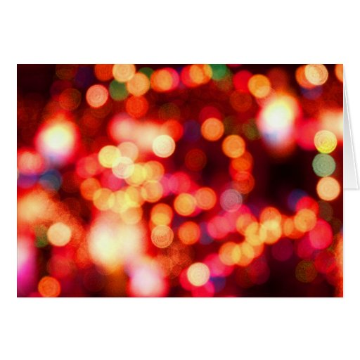 blurry holiday lights cards