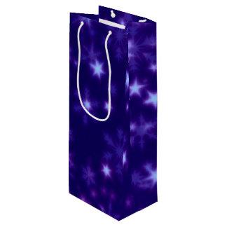 Blurry Stars blue Wine Gift Bag