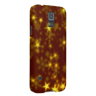 Blurry Stars golden Cases For Galaxy S5