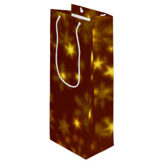 Blurry Stars golden Wine Gift Bag
