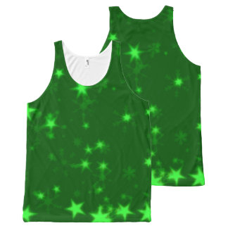 Blurry Stars green All-Over Print Singlet