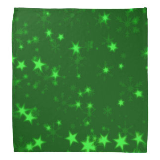 Blurry Stars green Bandana