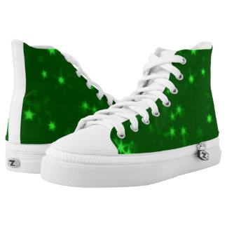 Blurry Stars green High Tops