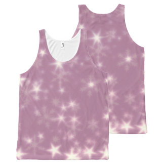Blurry Stars lilac All-Over Print Singlet