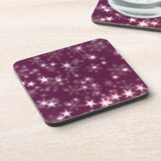 Blurry Stars plum Coaster