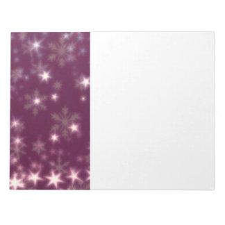 Blurry Stars plum Notepad