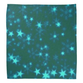 Blurry Stars teal Bandana