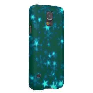 Blurry Stars teal Case For Galaxy S5
