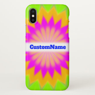 Blurry Vibrant Bursting Flower-Like Pattern; Name iPhone X Case