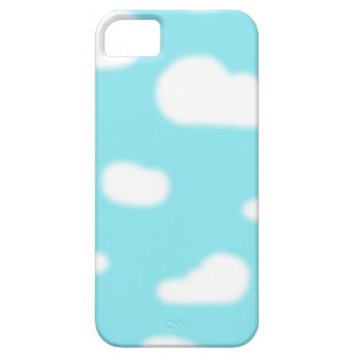 Blurry White Clouds Barely There iPhone 5 Case