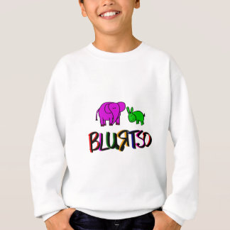 blurtso logo green and pink sweatshirt
