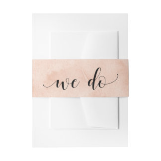 Blush Abstract Watercolor | We Do Invitation Belly Band