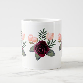 Blush and Burgundy Gift for Wedding Party Large Coffee Mug