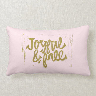 Blush and gold Joyful & Free Lumbar Cushion