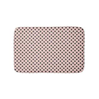 Blush and Grey Polka Dot Bath Mat