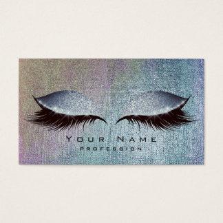Blush Blue Denim Paint Lashes Makeup Eyes Glitter Business Card