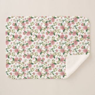 Blush Bouquet Baby Sherpa Blanket