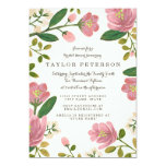 Blush Bouquet Bridal Shower 13 Cm X 18 Cm Invitation Card