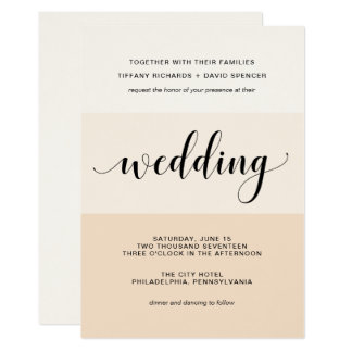 Blush Cascade | Subtle Stripes Wedding Card