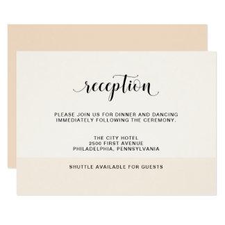 Blush Cascade | Subtle Stripes Wedding Reception Card