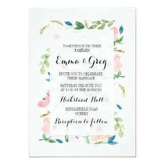 Blush Floral Anemone Invitation