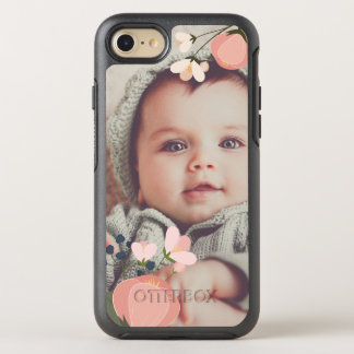 Blush Floral Overlay Photo OtterBox Symmetry iPhone 8/7 Case